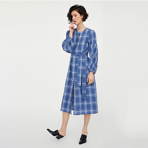 2018 New Women's Plaid Long Edition Shirt
