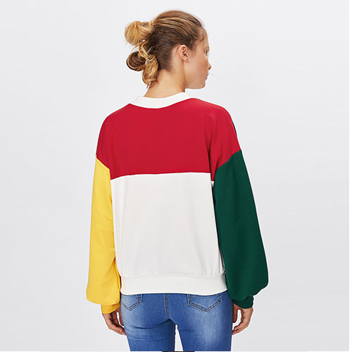 2018 NEW Drop Shoulder Tulip Back Slub Back Crossing Hoodie