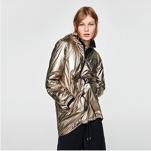 2018 Hot LOOSE-FITTING Metalljc Jacket Sweatshirt