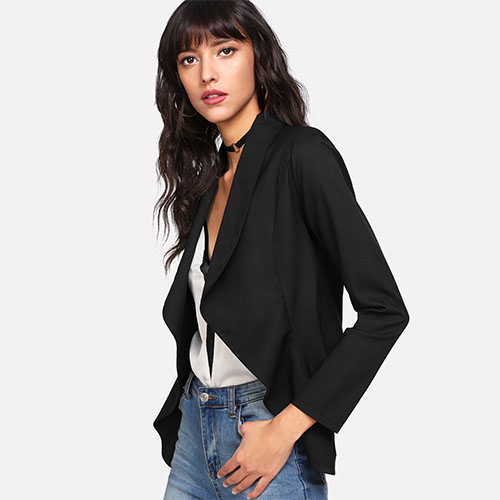 2018 Hot Shawl Collar Open Front Blazer